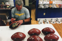 """Brett Favre & Peyton Manning Signed LE """"70K Passing Yards & 500 Passing Touchdowns Club"""" """"The Duke"""" NFL Game Ball With Multiple Inscriptions (Radtke COA & Fanatics Hologram) at PristineAuction.com"""