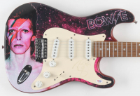 "David Bowie Signed 39"" Fever Custom Guitar (PSA LOA) at PristineAuction.com"