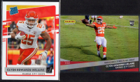 Lot of (2) Clyde Edwards-Helaire Football Cards with 2020 Donruss #321 RR RC & 2020 Panini Instant #11 RC at PristineAuction.com