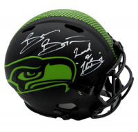 """Brian Bosworth Signed Full-Size Authentic On-Field Eclipse Alternate Speed Helmet Inscribed """"Land of Boz"""" (Beckett COA) at PristineAuction.com"""