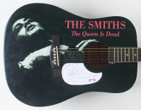 "Morrissey Signed 40"" Custom ""The Smiths"" Acoustic Guitar (PSA COA) at PristineAuction.com"
