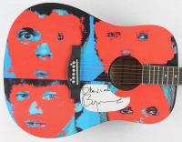"David Byrne Signed 40"" Custom ""Talking Head"" Acoustic Guitar (PSA Hologram) at PristineAuction.com"