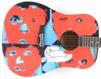 """David Byrne Signed 40"""" Custom """"Talking Head"""" Acoustic Guitar (PSA Hologram) at PristineAuction.com"""