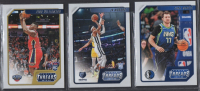 Lot of (3) 2019-20 Panini Chronicles / Threads Basketball Cards with #78 Zion Williamson, #84 Ja Morant & #100 Luka Doncic at PristineAuction.com