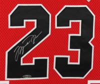 Michael Jordan Signed Bulls 32x39 Custom Framed 1996-1997 Mitchell & Ness Jersey Display (Upper Deck COA) at PristineAuction.com