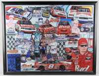 """Sam Bass Signed """"Busch Champions"""" 30.5x40.5 Custom Framed Lithograph Display Inscribed """"2002"""" (PA LOA) at PristineAuction.com"""