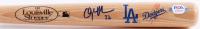 Clayton Kershaw Signed Los Angeles Dodgers Logo Louisville Slugger Mini Bat (PSA COA) at PristineAuction.com