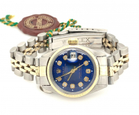 Rolex Diamond Oyster Perpetual Women's 18kt Gold Wristwatch with Box, Papers, & Tag at PristineAuction.com