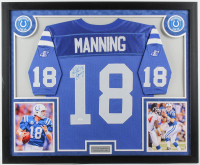 Peyton Manning Signed 33x39 Custom Framed 1998 Logo-Authentic Rookie Year On Field Jersey Display (JSA LOA) at PristineAuction.com