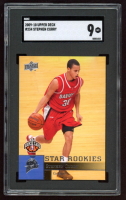 Stephen Curry 2009-10 Upper Deck #234 SP RC (SGC 9) at PristineAuction.com
