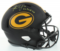 """Aaron Jones Signed Packers Eclipse Alternate Speed Full-Size Helmet Inscribed """"Go Pack Go"""" (Beckett COA) at PristineAuction.com"""