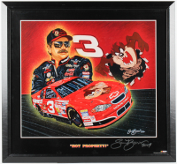 "Sam Bass Signed ""Hot Property!"" Dale Earnhardt 28x30 Custom Framed Lithograph Display Inscribed ""2009"" (PA LOA) at PristineAuction.com"