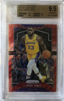 LeBron James 2019-20 Panini Prizm Prizms Ruby Wave #129 (BGS 9.5) at PristineAuction.com