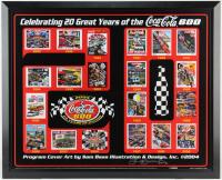 "Sam Bass Signed NASCAR Coca-Cola 600 27x33 Custom Framed Print Display Inscribed ""2012"" (PA LOA) at PristineAuction.com"