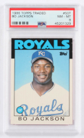 Bo Jackson 1986 Topps Traded #50T RC (PSA 8) at PristineAuction.com