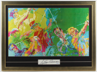 LeRoy Neiman Signed 25.5x34.5 Custom Framed Cut Display with Vintage Lithograph of Jack Nicklaus, Arnold Palmer, Sam Snead & Ben Hogan (PSA Hologram) at PristineAuction.com