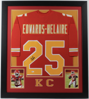Clyde Edwards-Helaire Signed 31x35 Custom Framed Jersey (Beckett COA) at PristineAuction.com