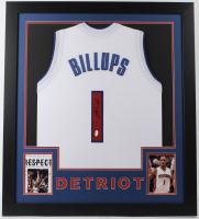 Chauncey Billups Signed 31x35 Custom Framed Jersey (JSA COA) at PristineAuction.com