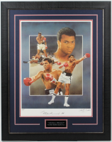 Muhammad Ali & Christopher Paluso Signed 26.5x33.75 Custom Framed Lithograph Display (JSA ALOA) at PristineAuction.com