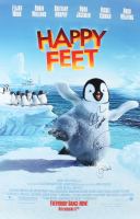 """Robin Williams, Elijah Wood & George Miller Signed """"Happy Feet"""" 27x40 Poster with Inscription (JSA ALOA) at PristineAuction.com"""