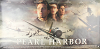 """Pearl Harbor"" 29x60 Limited Edition Triptik Movie Poster Signed by (15) with Ben Affleck, Josh Hartnett, Kate Beckinsale, Alec Baldwin, Michael Bay, Jerry Bruckheimer (JSA ALOA) at PristineAuction.com"