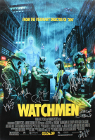 """Watchmen"" 27x40 Movie Poster Signed by (9) with Zack Snyder, Patrick Wilson, Matthew Goode, Malin Ackerman, Jeffrey Dean Morgan (JSA ALOA) at PristineAuction.com"