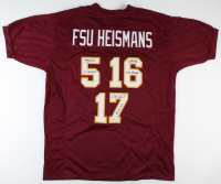 "Charlie Ward, Chris Weinke, & Jameis Winston Signed Jersey Inscribed ""13 Heisman"", ""2000 Heisman"", & ""93 Heisman"" (Beckett COA) at PristineAuction.com"