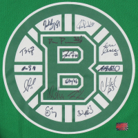 Bruins Jersey Team-Signed by (15) with Patrice Bergeron, Brad Marchand, David Pastrnak, Zdeno Chara, Tuukka Rask (YSMS COA) at PristineAuction.com