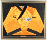 Mike Tyson Signed 31x37 Custom Framed Everlast Boxing Robe Display (PSA COA) at PristineAuction.com