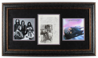 Deep Purple 19.75x24.75 Framed Magazine Page Display Band-Signed by (5) with Roger Glover, Ian Gillan, Ritchie Blackmore, Glenn Hughes & Ian Paice (JSA LOA) at PristineAuction.com
