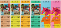 Lot of (6) 1984 Kentucky Oaks Proof Tickets at PristineAuction.com