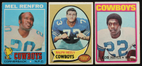 Lot of (3) Cowboys Football Cards with Ralph Neely 1970 Topps #4 RC, Bob Hayes 1972 Topps #105, Mel Renfro 1971 Topps #118 at PristineAuction.com