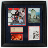 Roger Daltrey, Pete Townshend, & John Entwistle Signed The Who 30.5x30.5 Custom Framed Cut Display (JSA LOA) at PristineAuction.com