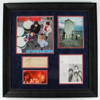 Roger Daltrey, Pete Townshend, & John Entwistle Signed The Who 30.5x30.5 Custom Framed Cut Display (JSA LOA) at PristineAuction.com