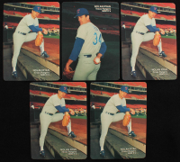 Lot of (5) Nolan Ryan Baseball Cards with (4) 1990 Mother's Cookies #2 & (1) 1990 Mother's Cookies #3 at PristineAuction.com