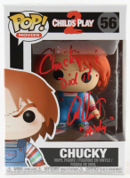 "Alex Vincent Signed ""Child's Play 2"" #56 Chucky Funko Pop! Vinyl Figure Inscribed ""Chucky Did it!"" & ""Andy"" (Beckett COA) at PristineAuction.com"