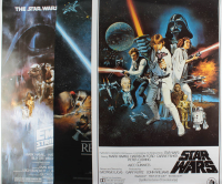 """Lot of (3) 27.5x40 """"Star Wars"""" Posters at PristineAuction.com"""