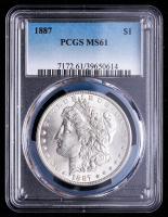 1887 Morgan Silver Dollar (PCGS MS61) at PristineAuction.com