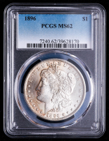 1896 Morgan Silver Dollar (PCGS MS62) at PristineAuction.com