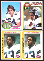 Lot of (4) Cowboys Football Cards With (2) Tony Dorsett 1978 Topps #315 RC, (1) Tony Dorsett 1979 Topps #160 & (1) Randy White 1976 Topps #158 RC at PristineAuction.com