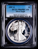 1987-S American Silver Eagle $1 One Dollar Coin (PCGS PR69 Deep Cameo) at PristineAuction.com