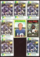 Lot of (8) Fran Tarkenton Football Cards With (6) 1973 Topps #60, (1) 1974 Topps #129 AP & (1) 1972 Topps #225 (Plays in the Masters/each spring) at PristineAuction.com
