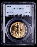 1946 Walking Liberty Silver Half Dollar (PCGS MS66) (Toned) at PristineAuction.com