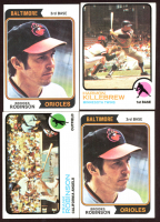 Lot of (4) Vintage Baseball Cards With (2) Brooks Robinson 1974 Topps #160, (1) Frank Robinson 1973 Topps #175 & (1) Harmon Killebrew 1973 Topps #170 at PristineAuction.com
