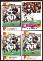 Lot of (4) O.J. Simpson Football Cards With (3) 1973 Topps #500 & (1) 1975 Topps #500 at PristineAuction.com