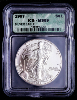 1997 American Silver Eagle $1 One Dollar Coin (ICG MS69) at PristineAuction.com