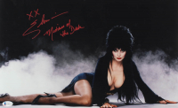 """Elvira Signed 11x17 Poster Inscribed """"XX"""" & """" Mistress of The Dark"""" (Beckett COA) at PristineAuction.com"""