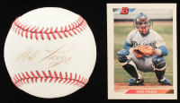 Lot of (2) Mike Piazza Signed Items with Official League Baseball & 1992 Bowman #461 RC (JSA ALOA) at PristineAuction.com