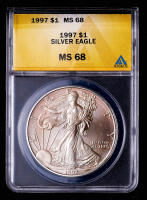 1997 American Silver Eagle $1 One Dollar Coin (ANACS MS68) at PristineAuction.com