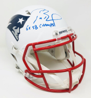 "Tom Brady Signed Patriots Full-Size Authentic On-Field Matte White Speed Helmet Inscribed ""6x SB Champs"" (Fanatics Hologram) at PristineAuction.com"